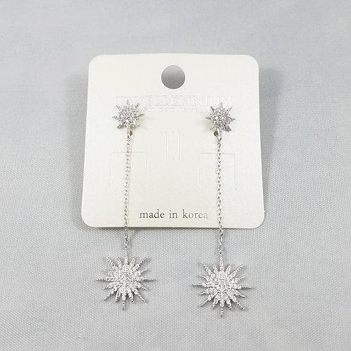 J-Line Earrings Rhodium: CJE9RH