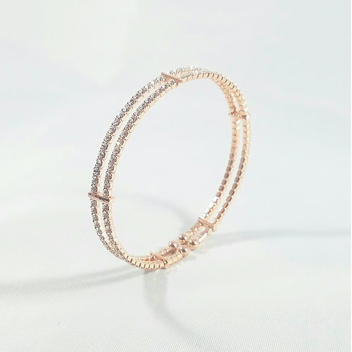 Interspace Bangle Rosegold