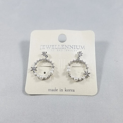 J-Line Earrings Rhodium: BJE2RH