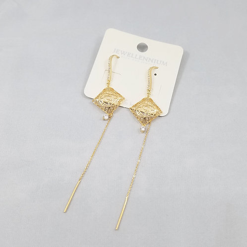 J-Line Earrings Gold: CJE10G