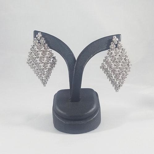 Medium Cleopatra Earrings Rhodium