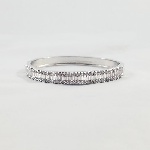 Princess Bangle Rhodium