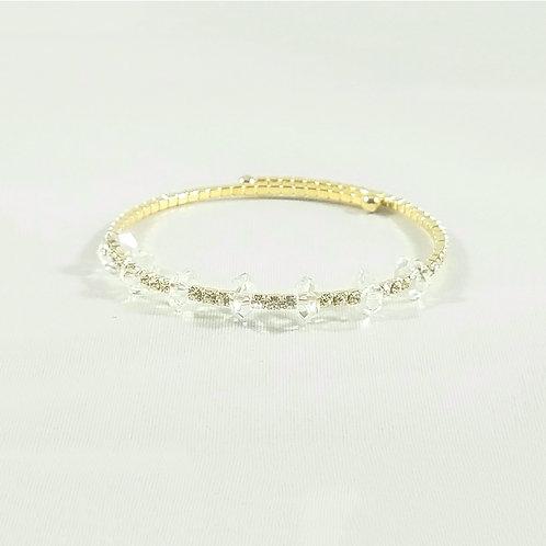 Crystal Bangle Gold