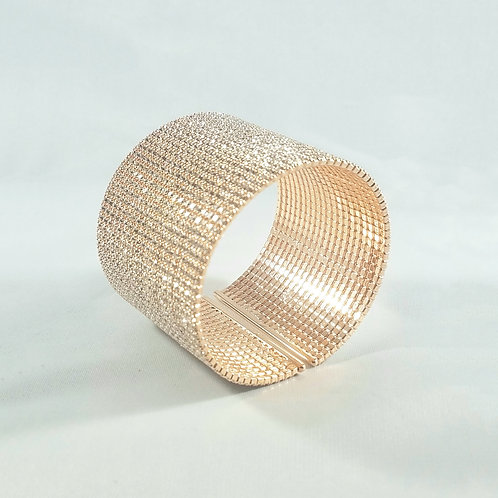 20 Line Rose Gold Bangle