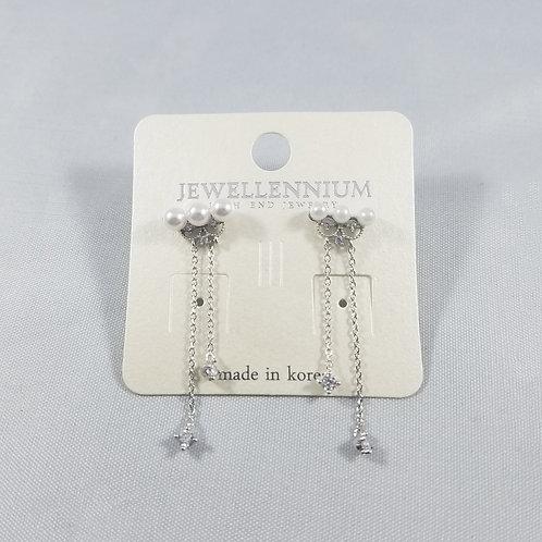 J-Line Earrings Rhodium: CJE4RH