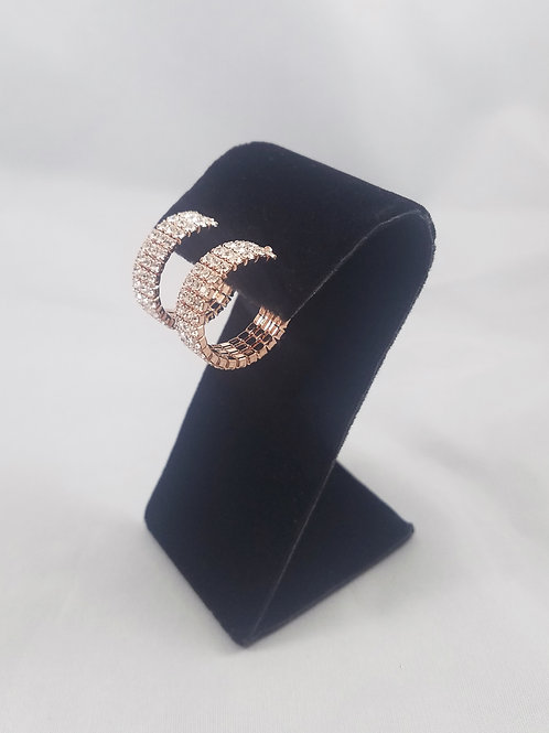 Extra Small 3 Line Hoop Earrings Rosegold