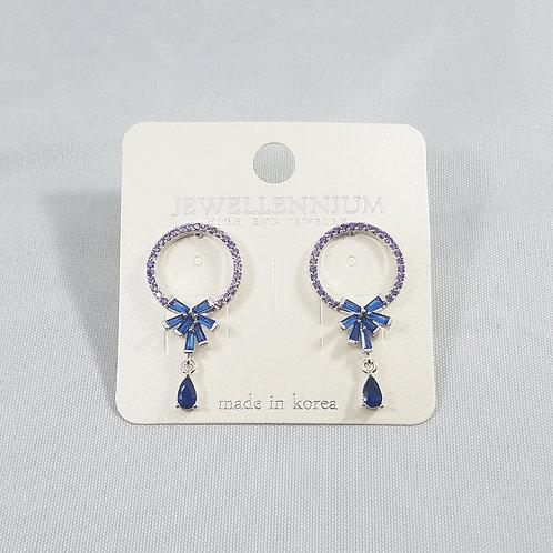 J-Line Earrings Blue: BJE6B