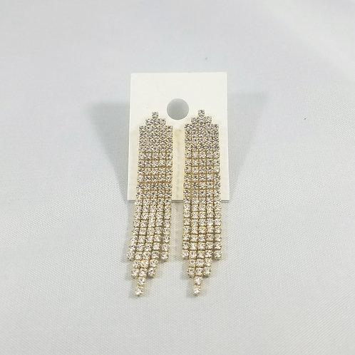 5 Line Drop Earrings Gold