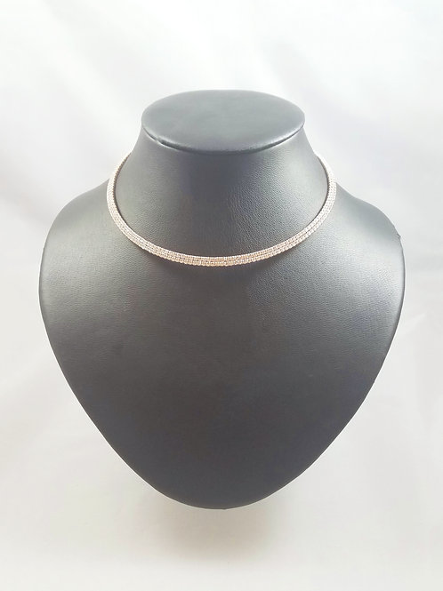 2 Line Necklace Rosegold