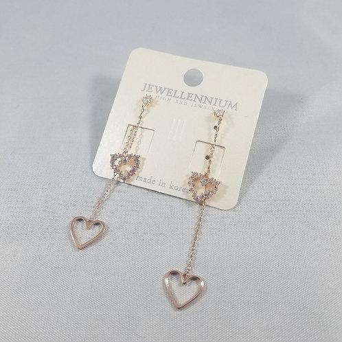 J-Line Earrings Rosegold: CJE1RG