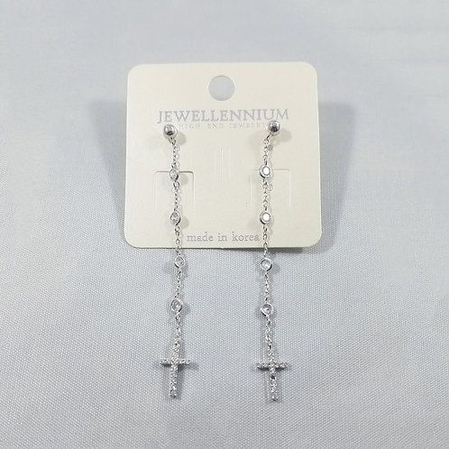 J-Line Earring Rhodium: CJE8RH