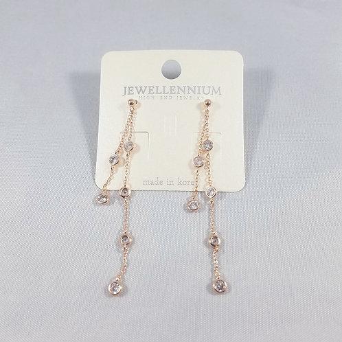 J-Line Earrings Rosegold: CJE5RG