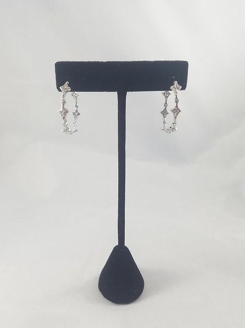Venice In&Out Hoop Earrings Rhodium