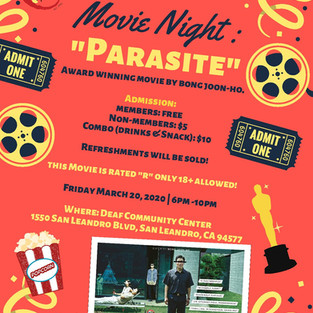 Bay Area Asian Deaf Association Movie Night