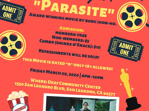 Bay Area Asian Deaf Association Movie Night