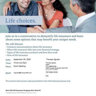 Invitation for New York Life Insurance Webinar