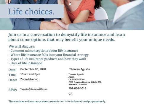 Invitation for New York Life Insurance Webinar