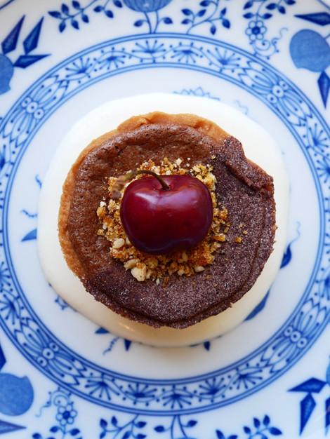 Cherry Chocolate tart & hazlenut praline