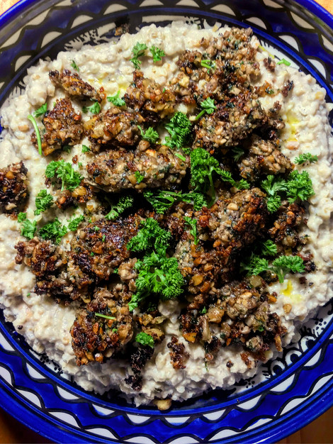 Babaganoush rissoto & mushroom kofta