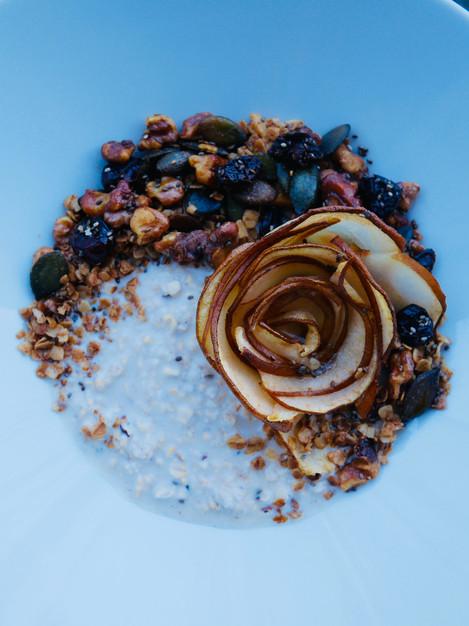 Pear rose for breakfast