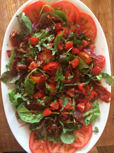 Spanish tomatoes & iberico ham