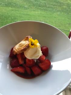 Balsamic strawberries, yoghurt ice cream & a twist