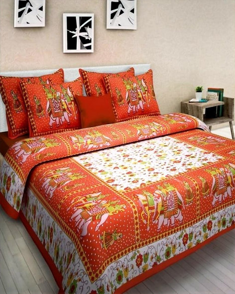 Jaipuri Bed Sheet With Pillow Covers