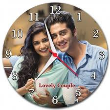 Photo Wooden Frame Wall Clock