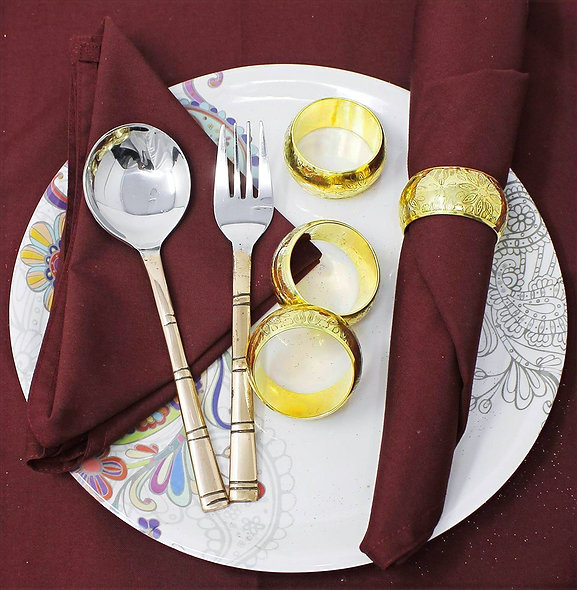 Dining Table Decoration Metal Floral Napkin Ring