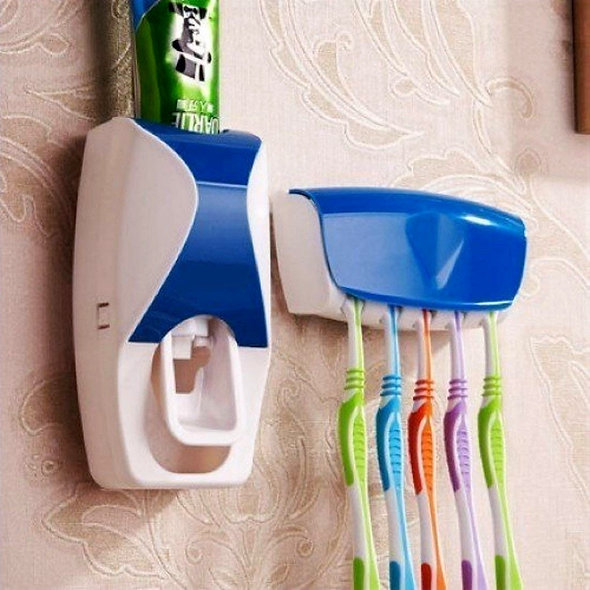 Wall Mounted Toothpaste Holder and Dispenser