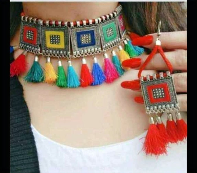Trendy Necklace With Earring