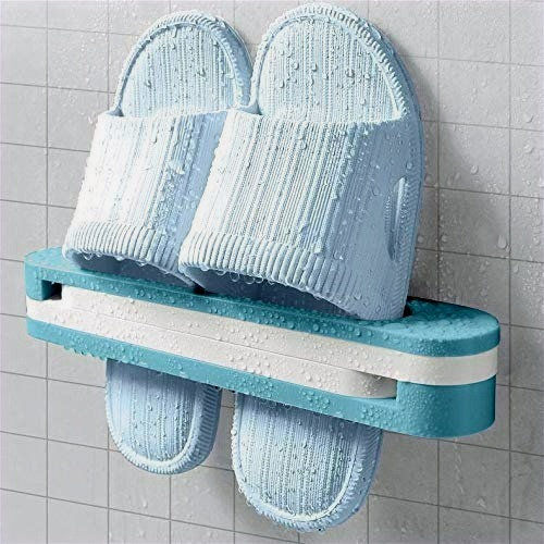 3- in -1 Wall Mounted Folding Slippers Rack Shoes Stand