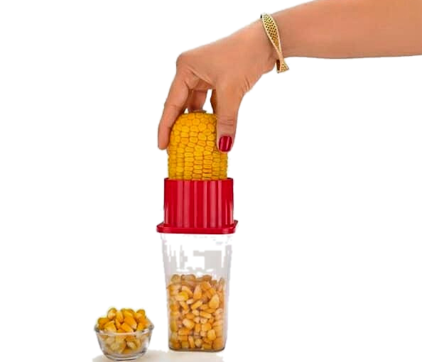 Corn Stripper-Plastic & Stainless Corn Stripper, Peeler With Containers