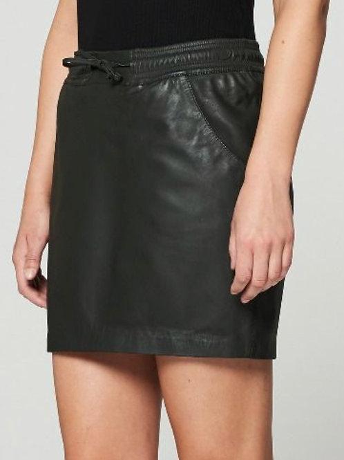 GOOSECRAFT - Jupe cuir noire