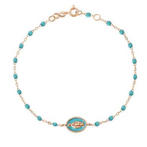 GIGI CLOZEAU - Bracelet Perles résine Médaille Madone