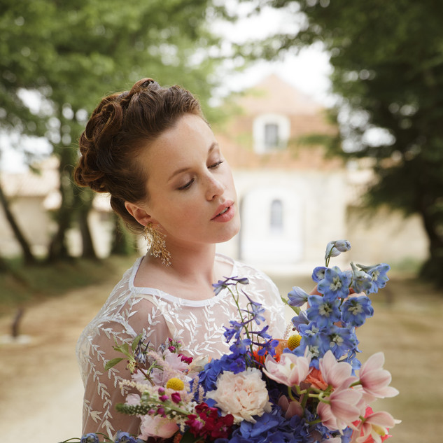 Colours infused the Bride
