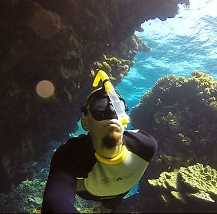 Freediving in Sharm el Sheikh with zen monk and freedive instructor Loic Kosho Vuillemin