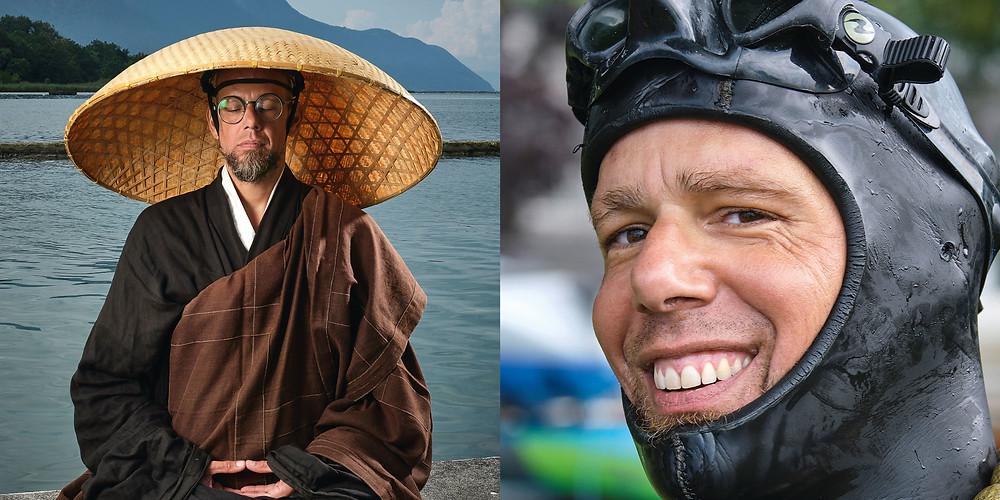 le moine zen Loïc Kosho Vuillemin est le fondateur de Deep Zen meditation et apnée
