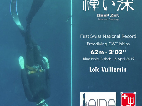 The first bifins Swiss national record holder is a zen monk.