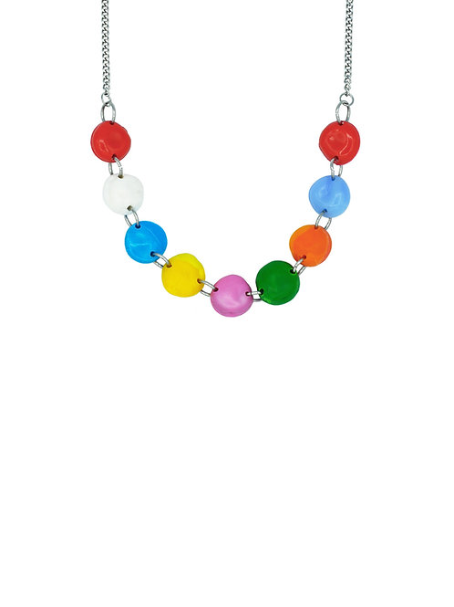 Choker perlas colorines