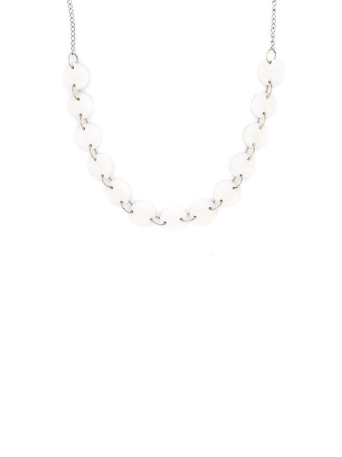 Choker perlas blanco