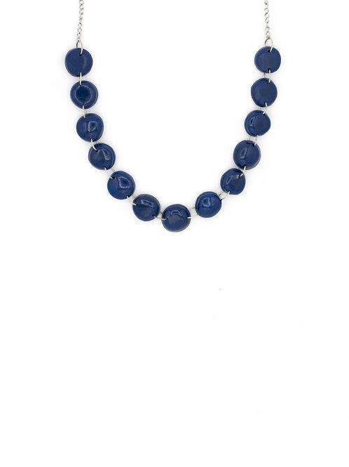 Choker perlas azul marino