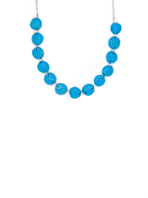 Choker perlas azul bezoya