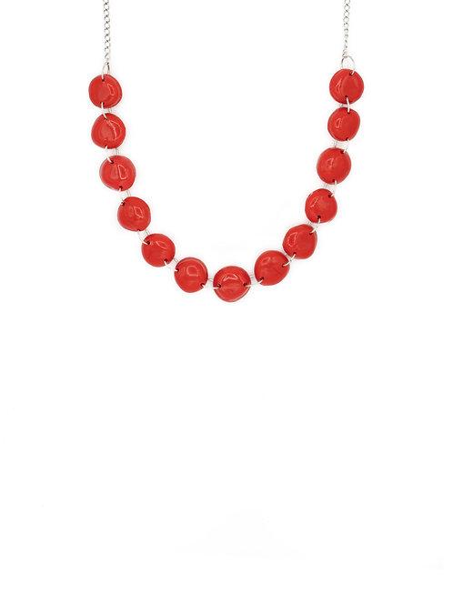 Choker perlas rojo