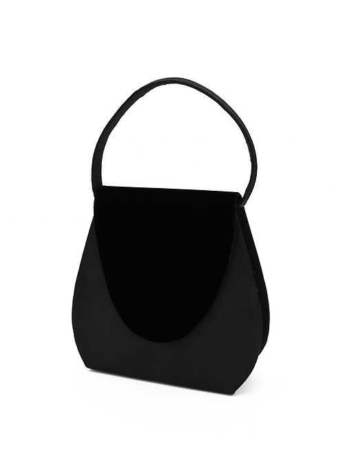 Bolso negro segunda mano + accesorio a elegir