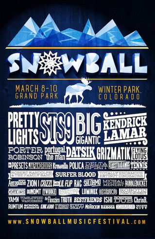 Snowball Music Festival 2013 Lineup Announcement