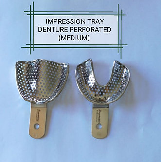 IMPRESSION TRAYS DENTURE PERFORATED MEDIUM