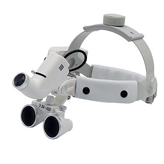 Head Loupes with LED light + Rechargeable BatteryPack