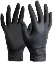 Black Nitrile Gloves per box