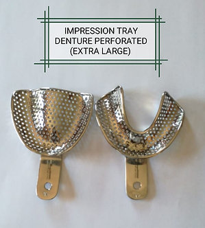 IMPRESSION TRAYS DENTURE PERFORTED X-LARGE